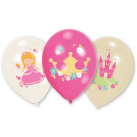 Prinsessen ballonnen 6 stuks 28cm