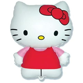 Hello Kitty folie ballon op stok 35cm
