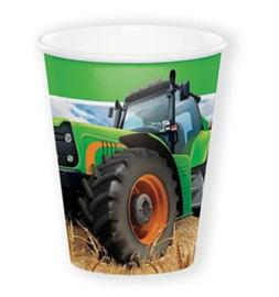 Boerderij tractor bekers 8 stuks 266ml