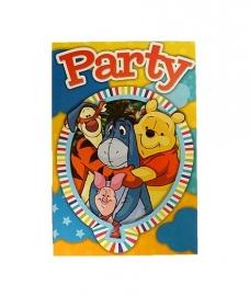 Uitnodigingen Winnie the Pooh verpakt per 5 stuks