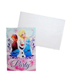 Frozen uitnodigingen 5 stuks