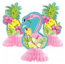 Flamingo versiering tafel set 3 stuks