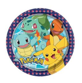 Pokemon borden 8 stuks 23cm
