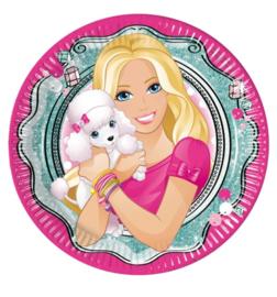 Barbie bordjes 8 stuks 20cm
