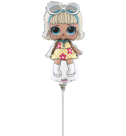 LOL Surprise go go girl folie ballon op stok 25cm