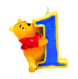 Winnie de Poeh taartkaars cijfer 1