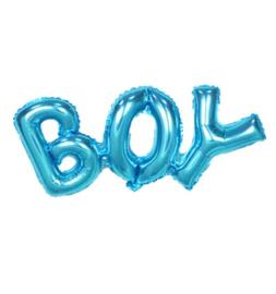 Folieballon boy lichtblauwe letters