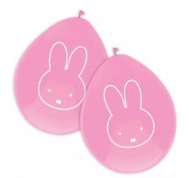 Nijntje ballonnen roze 6 stuks