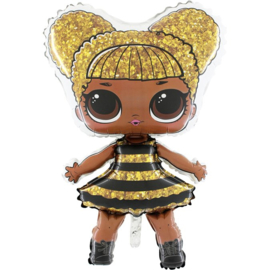 LOL Surprise Queen Bee folie ballon op stok 35cm