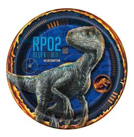 Jurassic World raptor Blue gebaksbordjes 8 st 18cm