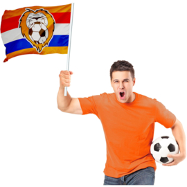 Oranje leeuw EK vlag 70x50cm