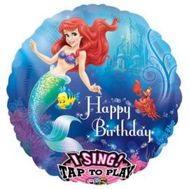 De kleine zeemeermin muziekballon 71cm