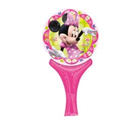 Minnie Mouse folie ballon met handgreep
