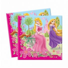 Prinsessen servetten 20 stuks 33x33cm