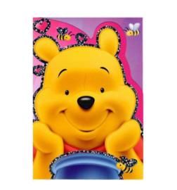 Winnie de Poeh verjaardagskaart 20x14cm