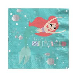 De kleine zeemeermin servetten 20 stuks 33x33cm