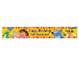 Dora verjaardag banner 4,5m