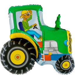 Boerderij tractor folie ballon  74x80cm