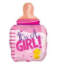 Babyfles meisje folie ballon 56cm