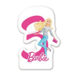 Barbie taartkaars cijfer drie