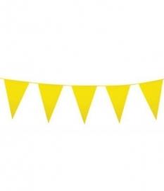 Vlaglijn geel plastic 10m