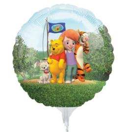 Winnie de Poeh folie ballon op stok 23cm 3 stuks