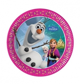 Olaf Frozen borden 8 stuks