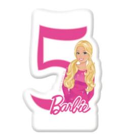 Barbie taartkaars cijfer vijf