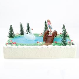Barbie taart versiering set