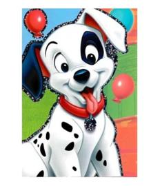 101 Dalmatiers verjaardagskaart 20x14,5cm