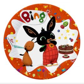 Bing konijn bordjes 8 stuks 18cm