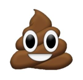 Emoji poop onderzetters 9 stuks
