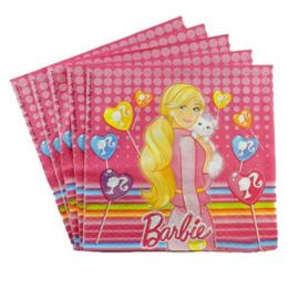 Barbie servetten 20 stuks 33x33cm