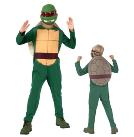 The ninja Turtles kostuum 8-10 jaar.