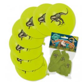 T Rex dino ballonnen 8 stuks