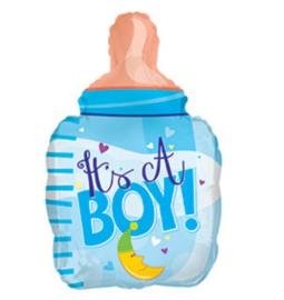 Babyfles jongen folie ballon 58cm