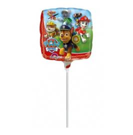 Paw Patrol folie ballon op stok