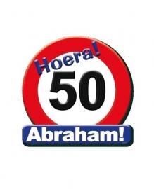 Huldeschild Abraham 50 jaar verjaardag