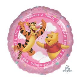 Winnie de Poeh folie ballon roze