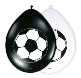 Voetbal ballonnen 8 stuks