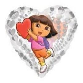 Dora folie ballon doorzichtig  45cm