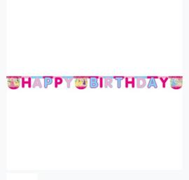 Prinsessen letterslinger Happy Birthday 1,8m