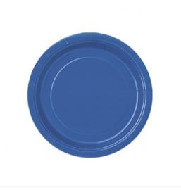 Borden blauw 18cm 8 stuks