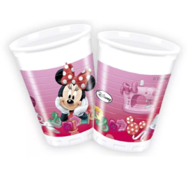 Minnie Mouse bekers plastic 8 stuks 200ml
