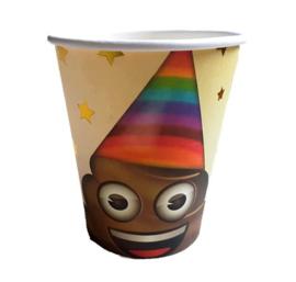 Emoji Poop bekertjes 6 stuks 250ml