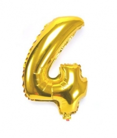 Folie ballon verjaardag 4 jaar