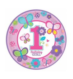 Verjaardag 1 jaar borden