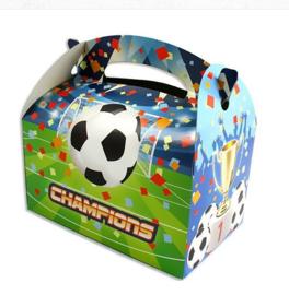 Voetbal traktatie doosje karton 15x14cm
