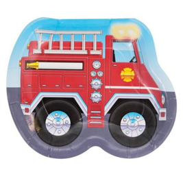 Brandweer borden 8 stuks 23cm