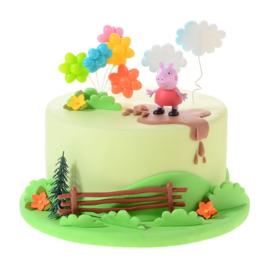 Peppa Pig taart versiering set